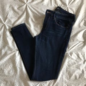 dark high waisted skinny jeans/leggings 6R
